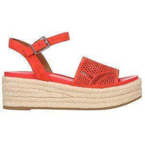 Franco Sarto Espadrille Platform Sandal Red Suede
